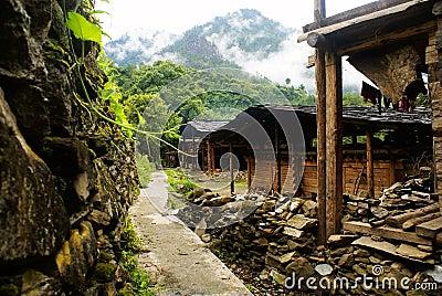 Cottage of the Lisu nationality