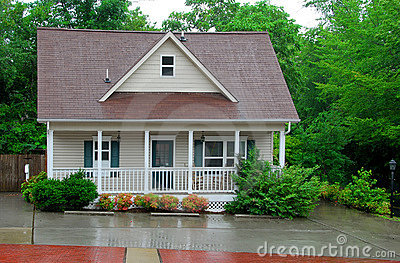 Cottage in the Rain