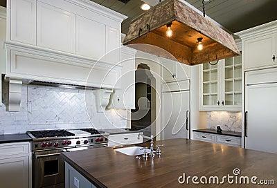 Cottage style home white kitchen