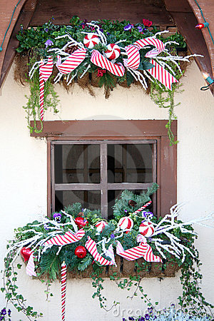 Cottage Window at Christmas