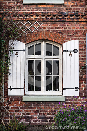 Free Cottage Window Shutters Royalty Free Stock Photo - 66368095