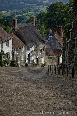 Cottages on a country lane