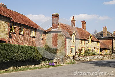 Cottages at Easebourne. Sussex. UK