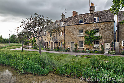 Cottages in Lower Slaughter, Cotswolds, UK
