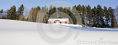 Cottages In Snowy Winter Season Stock Photography - Image: 27138752