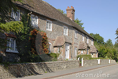 Cottages at Stanmer near Brighton. Sussex. England
