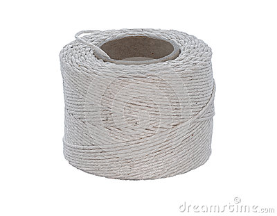Cotton cord isolated on white