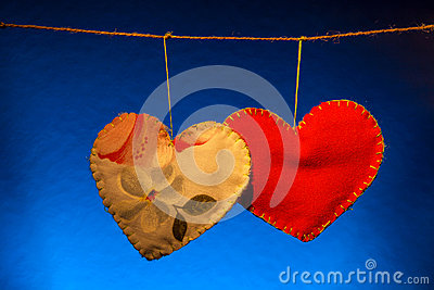 Cotton fabric hearts