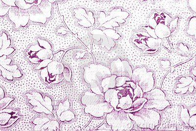Cotton fabric with peony flower print