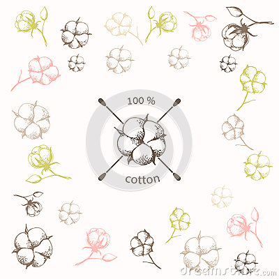 Free Cotton Flower With Crossed Cotton Swabs As Royalty Free Stock Photos - 59183988