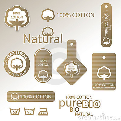 Cotton labels and tags