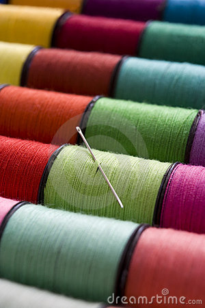 Free Cotton Reels Royalty Free Stock Image - 5208756