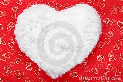 Cotton shaped heart