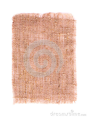 Cotton textile burlap isolated
