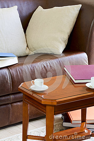 Free Couch And Coffee Table Royalty Free Stock Photo - 31207245