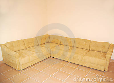 Couch in empty room