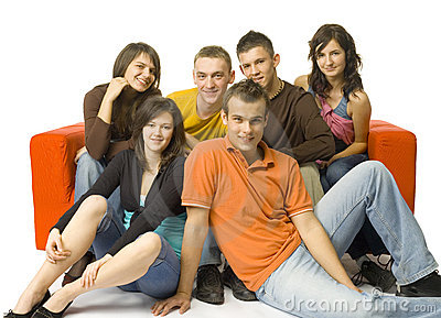 Couch Full Of Friends Royalty Free Stock Photos - Image: 2386508