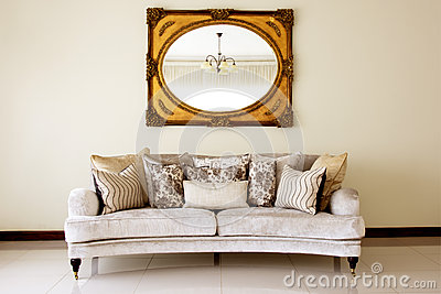 Couch with Mirror