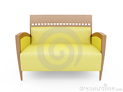 Couch Over White Royalty Free Stock Photos - Image: 9672558