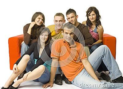 Couch voll der Freunde