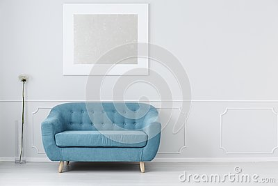 Couch in waiting hall Stock Photo