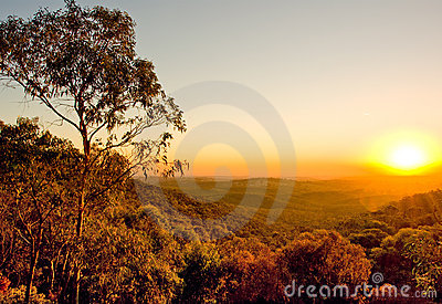 Coucher du soleil australien