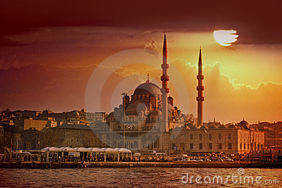 Coucher du soleil d Istanbul