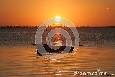 Coucher du soleil de la Mozambique