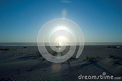 Coucher du soleil de plage