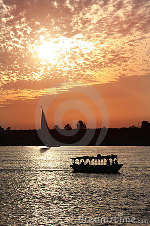 Coucher du soleil du Nil