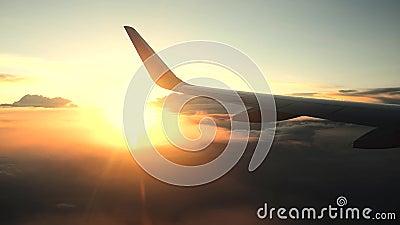 Coucher du soleil plat de ciel d'aile clips vidéos