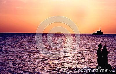 Coucher du soleil romantique