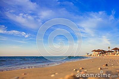 Coucher du soleil sur la mer Méditerranée