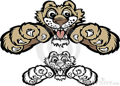 Cougar Cub / Panther Cub Mascot Logo