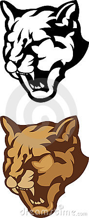 Cougar Head Mascot Vector Logo