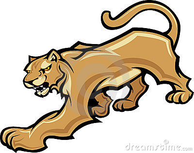 Cougar Mascot Body Graphic