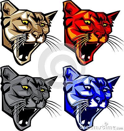 Cougar / Panther Mascot Logo