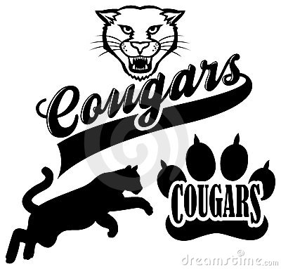 Cougar Team Mascot Royalty Free Stock Photography Image