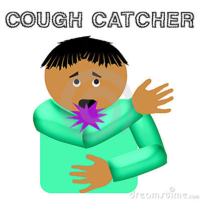 Cough catcher illustration