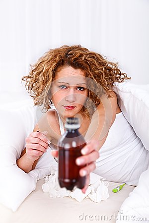 Free Cough Syrup Stock Photography - 29034392