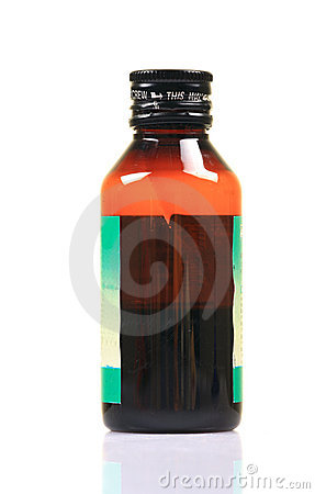 Cough syrup bottle