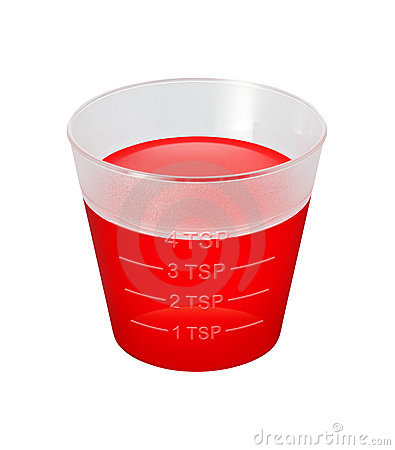 Cough Syrup Medicine Cup isolated