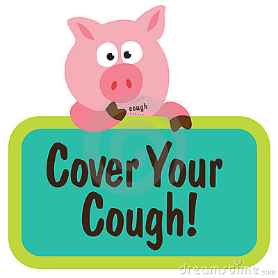 Coughing Swine Holding Sign