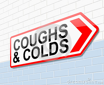 Coughs and colds concept.