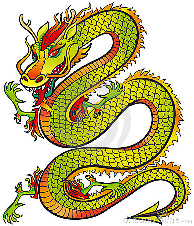 Couleur grande de dragon