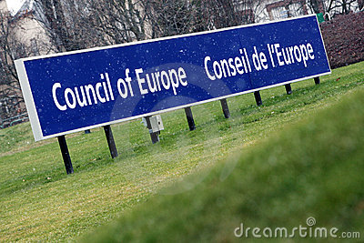 Council of Europe Editorial Stock Photo