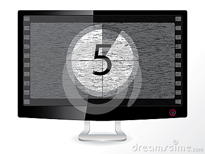 Countdown in a black monitor