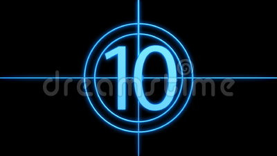 Countdown. 3D countdown from ten to one