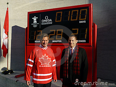 Countdown to the 2010 Winter Olympics Editorial Stock Photo