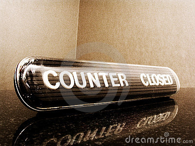 Counter closed